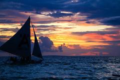 Boracay Sunset 2 (shutterbug_russ) Tags: boracay sunset paraw sailboat teampilipinas