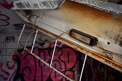 Rusted Light (mrbarrett70) Tags: abandoned state school massachusetts light rust wires wire belchertown