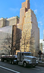 Americana (vittorio vida) Tags: ny newyork manhattan america usa americana skyscraper truck street transportation city buildings travel