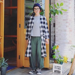 October 19, 2016 at 01:27PM (audience_jp) Tags: shop    fashion  ootd japan madeinjapan check style    sung kimono       tokyo coat  casual audience
