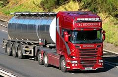 SCANIA R580 V8 - J & C HENDERSON Scone Perthshire (scotrailm 63A) Tags: lorries trucks tankers