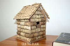 Casita para Pjaros hecha con tapones de corcho (Mnica Santana) Tags: diy manualidades taponesdecorcho reciclar