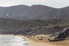 Kitesurf en Calblanque  // Kitesurf in Calblanque (Miguel López Soler - E.) Tags: calblanque playa beach kitesurf naturaleza nature miguellópezsolere cartagena españa spain