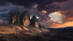 Symphony (Radisa Zivkovic) Tags: mountain sunset cloud travel dolomites italy alps tyrol cliff peak landmark dramatic light sky rock highland wilderness vastness landscape nature scenery outdoor purple beautiful high moody environment red