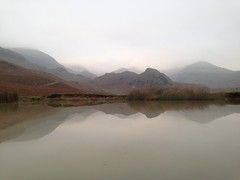 Not a Bad Finish (RoystonVasey) Tags: road lake reflection apple upload puddle 5 district email explore cumbria fells scar coniston iphone roaming walna ldnp