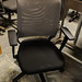 Grey mesh and black fabric office chair