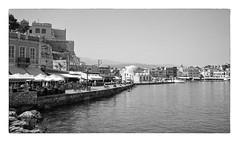 Chania (Jaf-Photo) Tags: summer vacation bw holiday film analog mono md europe mediterranean minolta greece crete analogue ilford fp4 xd5 2014 xtol rokkor smalltank 35mmf28 rokkorx