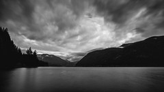 Clouds the Mind (John Westrock) Tags: longexposure blackandwhite lake mountains nature water clouds contrast landscape outdoors scenic pacificnorthwest washingtonstate canonef2470mmf28lusm bwnd1000x canoneos5dmarkiii johnwestrock