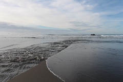 Waves and creeks meet and greet (rozoneill) Tags: ranch park beach oregon island coast state hiking trail lone boardman samuel brookings whaleshead wsweekly112