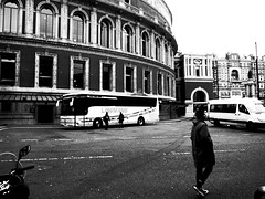Royal Albert Hall (adam sharp) Tags: uk england blackandwhite london art design graphicdesign royalalberthall graphic grain victorian royal retro study iv ricoh rca gd royalcollegeofart alberthall