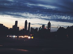 344/365 (moke076) Tags: city atlanta sunset sky cars oneaday car mobile skyline night clouds buildings georgia evening afternoon view traffic cellphone cell rush hour photoaday 365 iphone 2014 project365 365project vsco vscocam