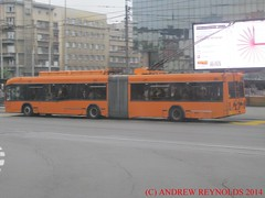 2014 0616 59 BELGRADE AKSM-321 TROLLEYBUS BUILT IN MINSK (Andrew Reynolds transport view) Tags: urban bus europe trolley serbia transport railway wires belgrade streetcar minsk 60 built yugoslavia 59 trolleybus 2014 in 0616 transit mass serbska aksm321