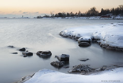 20141225-DSC_7183_D800soFB (Soili Stenroos) Tags: christmas winter orange cliff snow color ice rock sunrise finland helsinki stones kaivopuisto 2014