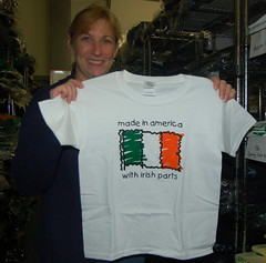 Made in America with Irish Parts T Shirt