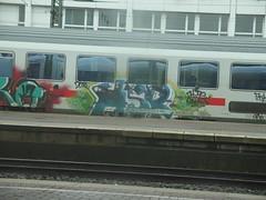 HSR (mkorsakov) Tags: graffiti bahnhof colored piece tagging hbf hsr dortmund bunt ic2218