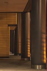Copper night (mimo b. rokket) Tags: berlin lines night germany deutschland nightshot columns copper forms modernarchitecture nachtaufnahme abstractarchitecture sulen formen linien kupfer modernearchitektur abstraktearchitektur