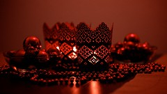 Merry Christmas (Basileia Gorgo) Tags: christmas red rot canon weihnachten deutschland 50mm candle decoration kerze leipzig sachsen dslr kamera weihnachtsdeko deko niftyfifty eos550d