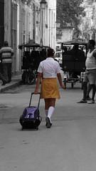 2014-12-08_13-19-26_ILCE-6000_DSC03683_Det (miguel.discart) Tags: vacance visite voyage 2014 cuba street selectivecolor woman women girls femme colourcutout cutout female allfreepicturesjuly2018challenge