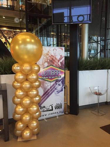 Ballonpilaar Breed Rond Maasgebouw Feyenoord Stadion Rotterdam