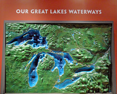 The Great Lakes (Maia C) Tags: map lj greatlakes topography maiac dossingreatlakesmuseum sonydschx1