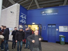 Palace supporters at Leicester (Paul-M-Wright) Tags: city football king power crystal stadium soccer leicester saturday palace v match fans february premier league 07 supporters 2015 cpfc lcfc