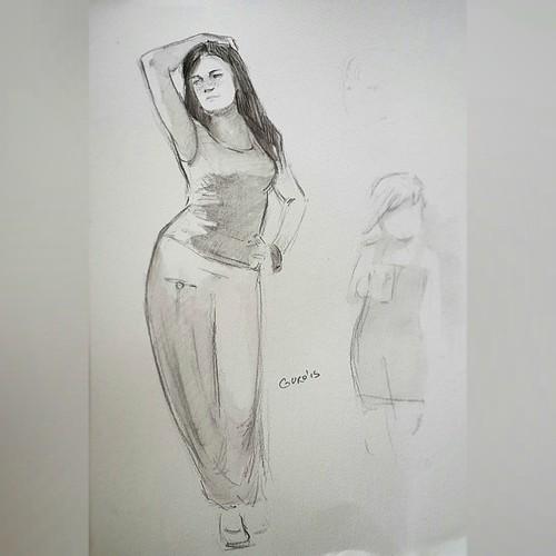 Женя. 10 мин акварельный карандаш