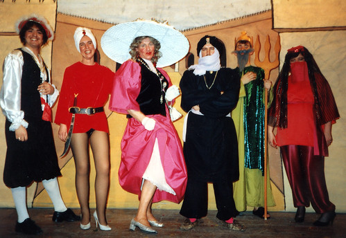 1986 Sinbad the Sailor 01 (from left Ian Booth, June Salt,Ken Fielding,Chris Birkby,Andrew Platts,Joan Ritchie)