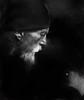Lost (Houman Khosrozadeh) Tags: street portrait bw white black face hat canon beard photography smoke homeless profile highcontrast 6d paintover
