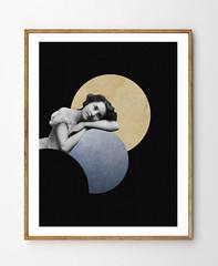 Mesmerized (StellaireStudio) Tags: blue ladies black art girl collage wall illustration digi