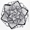 #Zentangle 2015-057, #tangleharmony #zendala template no. 7 with isochor, poke root, paradox, kozy and pearls. (kurki15) Tags: square sketch drawing mandala squareformat zia tangle micron zenart zentangle meditativeart zendoodle zendala iphoneography instagramapp zentangleinspiredart tangleharmony 2015zenfeb zentangleaday