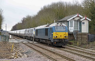67003 and 91102 at Metheringham on 28 Feb 15.