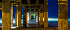 Bob Hall Pier (oSnapMedia) Tags: ocean beach water night canon landscape island lights bay pier photo sand long exposure texas corpuschristi pano smoke fineart tripod panoramic padre piller bobhallpier canon7d osnapmedia