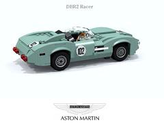 Aston Martin DBR2 Racer (1957-1959) (lego911) Tags: auto uk england classic sports car model martin lego britain render great under over 1950s million gb 1958 1957 marek challenge lemans thousand aston cad racer lugnuts 89 povray moc ldd miniland dbr2 tadek lego911 overamillionunderathousand