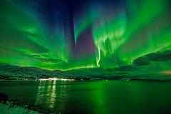 Aurora over Bo Fjord, Norway (Wayne Pinkston) Tags: nightphotography norway night canon landscape aurora northernlights auroraborealis tromso bofjord båfjord waynepinkston lightcraftercom wwwlightcraftercom