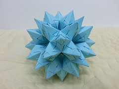 Spiky RhoDoDe (Bascetta unit version) (hyunrang) Tags: spiky origami hur bascetta rhodode