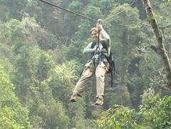 Karen Ziplining Over the Forest