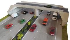 Motorway diorama (kingsway john) Tags: bridge scale model motorway models card kit oo gauge diorama mwb kingsway 176