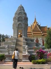 Kantha Bopha Stupa at Silver Pagoda in Royal Palace, Phnom Penh