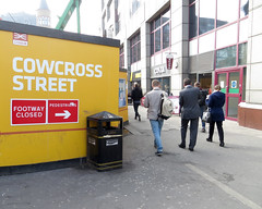 'Pedestrian Cattle' (EZTD) Tags: england costa london londres pedestrians islington clerkenwell londra farringdon londonopenhouse londinium londonist londonengland 2015 crossrail londonphotos cowcrossstreet eztd eztdphotography canonpowershotsx240hs eztdphotos villedelondres eztdgroup londonimagenetwork