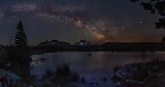 Milkyway Over Lassen (Darkness of Light) Tags: park lake chaos peak national volcanic lassen manzanita milkyway crag