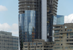 IMGP3614 (mattbuck4950) Tags: england london june reflections construction europe unitedkingdom riverthames cityoflondon gbr 2016 londonboroughofsouthwark blackfriarspier
