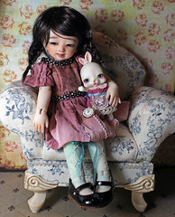 Rabbit and Tiddly Pomme (bentwhisker) Tags: rabbit bunny dolls bjd resin 0318 adori tokissi harucasting tokicreamwhite