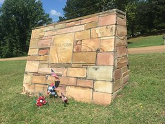 Stone memorial for Buford Pusser (michaelwfreem) Tags: tennessee adamsville