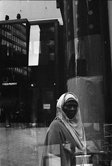 Street scenes (__ _) Tags: streetphotography blackandwhite film urban scene figure face helsinki finland europe 35mm streetsonfilm grain selfdeveloped multipleexposure konicat faultycamera