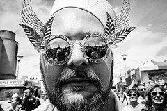Hello Sailor (Shot In The Street) Tags: streetphotography 28mm portrait mono lgbt candid monochrome street bristol black blackandwhite white glasses 28mmf28is pride2016