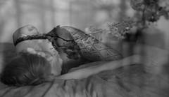 le matin dans le jardin de mes rêves  (morning in the garden of my dreams) (l'imagerie poétique) Tags: limageriepoétique poeticimagery sensualité superposition composite rêveur dreamy romantic douceur lingerie autoportrait innamoramento