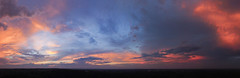 After the Storm (hessamt) Tags: pink blue sunset panorama orange yellow aerial watermelon cumulus thunderstorm stitched orono drone magiclight universityofmaine djiphantom3 tornadoinmaine