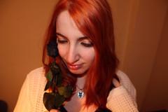 Mentiras (Inspiracin dormida) Tags: girl redhair orange hair book pelirroja pelinaranja libro flores black