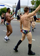 IMG_6230 (danimaniacs) Tags: losangeles westhollywood gay pride parade hot sexy man guy stud shirtless bikini speedo swimsuit trunks back