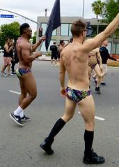 IMG_6230 (danimaniacs) Tags: losangeles westhollywood gay pride parade hot sexy man guy stud shirtless bikini speedo swimsuit trunks back